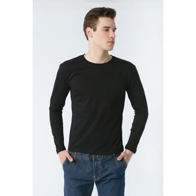 Джемпер мужской KAFTAN basic (М1), размер 3XL(54), цвет чёрный, хлопок 100%