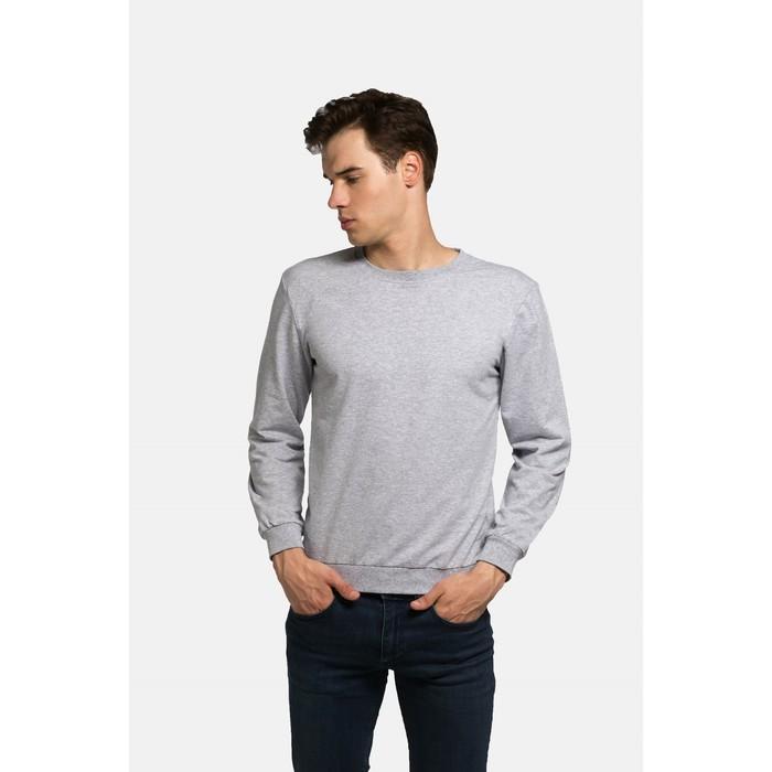 Джемпер мужской KAFTAN basic (М3), размер 3XL(54), цвет меланж, хлопок 100%