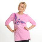"""Толстовка женская KAFTAN """"Птица"""", цвет розовый, размер 2XL(52), хлопок 100%"""