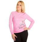 """Толстовка женская KAFTAN """"Бабочки"""", цвет розовый, размер S(44), хлопок 100%"""