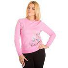 """Толстовка женская KAFTAN """"Бабочки"""", цвет розовый, размер 2XL(52), хлопок 100%"""