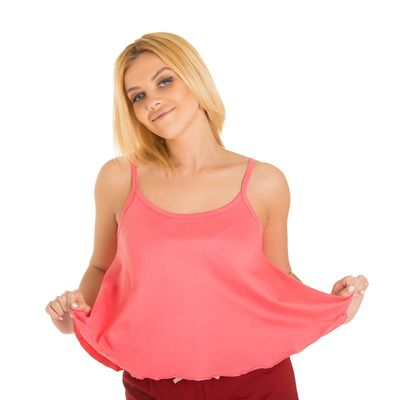 Топ женский KAFTAN, цвет коралловый, размер XL(50), хлопок 100%