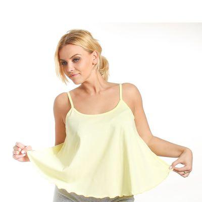 Топ женский KAFTAN, цвет лимонный, размер XL(50), хлопок 100%