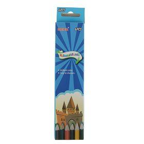 Карандаши 6 цветов Beifa трехгранные PMC730-6 'Воздушный замок' заточенные Ош