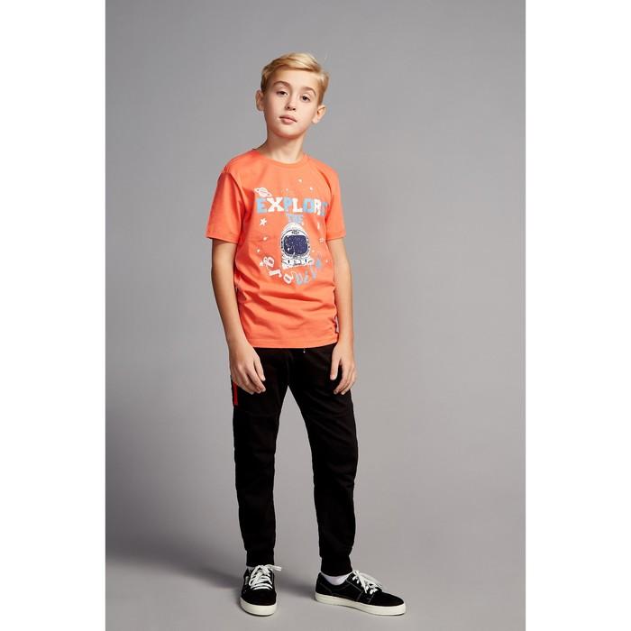 Футболка для мальчика, рост 140 см, цвет красный