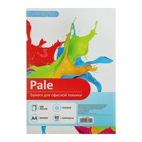 Бумага цветная А4, 100 листов Calligrata Пастель, голубая, 80 г/м²