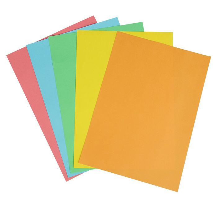 Бумага цветная А4, 50 листов Calligrata Интенсив, 5 цветов, 80 г/м² - фото 373638101