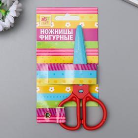 """Scissors embossed plastic """"Colored"""" MIX 12,5x6 cm"""
