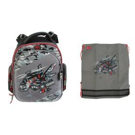 Рюкзак каркасный, Hummingbird TK, 37 х 32 х 18 см, с мешком для обуви, «Самолёт»