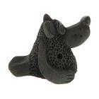 Свистулька маленькая «Медведь», чернолощеная керамика, 5 см