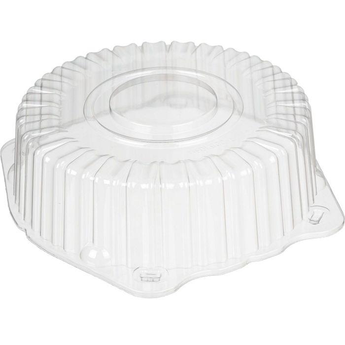 Крышка к контейнеру Т-225КН (М), круглая, цвет прозрачный, размер 24,7 х 24,7 х 7 см, объём 1,2 л