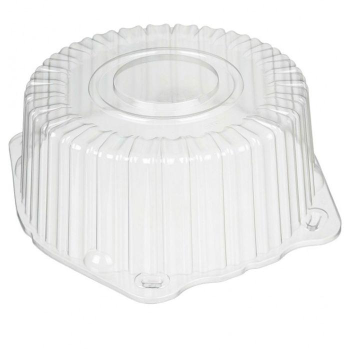 Крышка к контейнеру Т-225КВ (М) (Т), круглая, цвет прозрачный, размер 24,7 х 24,7 х 9,5 см, объём 1,5 л