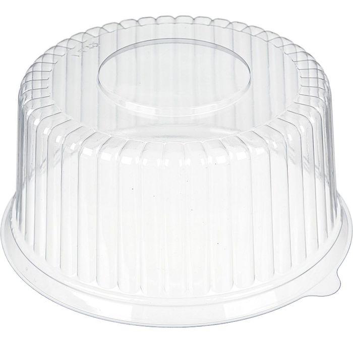 Крышка к контейнеру Т-209К (ПВХ), круглая, цвет прозрачный, размер 21,2 х 21,2 х 9,6 см, объём 800 мл