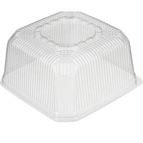 Крышка к контейнеру Т-172К, квадратная, цвет прозрачный, размер 23,7 х 23,7 х 11,8 см, объём 5 л
