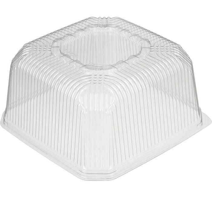 Крышка к контейнеру Т-172К, квадратная, прозрачная, 23,7х23,7х11,8 см / 5000 мл