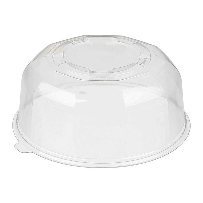 Крышка к контейнеру Т-018КН, круглая, прозрачная, 18х18х8,6 см / 800 мл