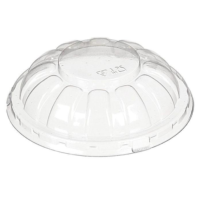 Крышка к контейнеру М-201К, круглая, прозрачная, 10х10х2,9 см