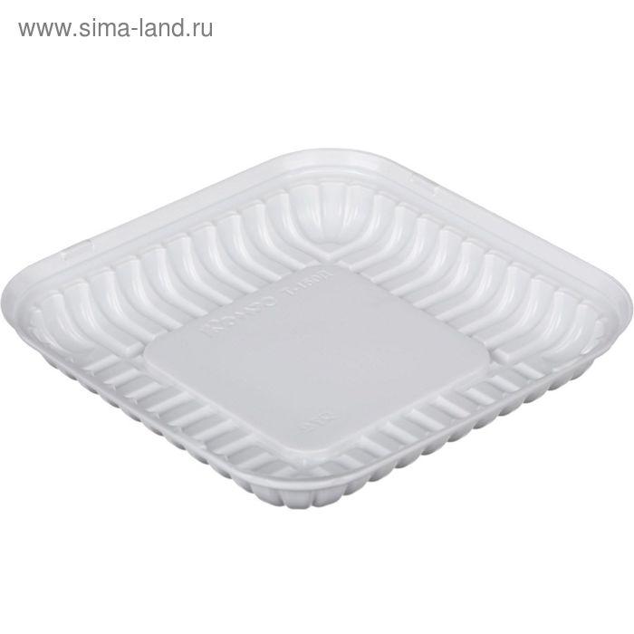 Контейнер для торта Т-150Д (Т), квадратный, белый, 18,4х18,4х2,7 см