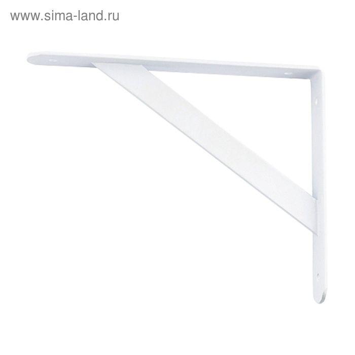 """Кронштейн усиленный """"СИБРТЕХ"""", 500х350х30х4 мм, белый"""