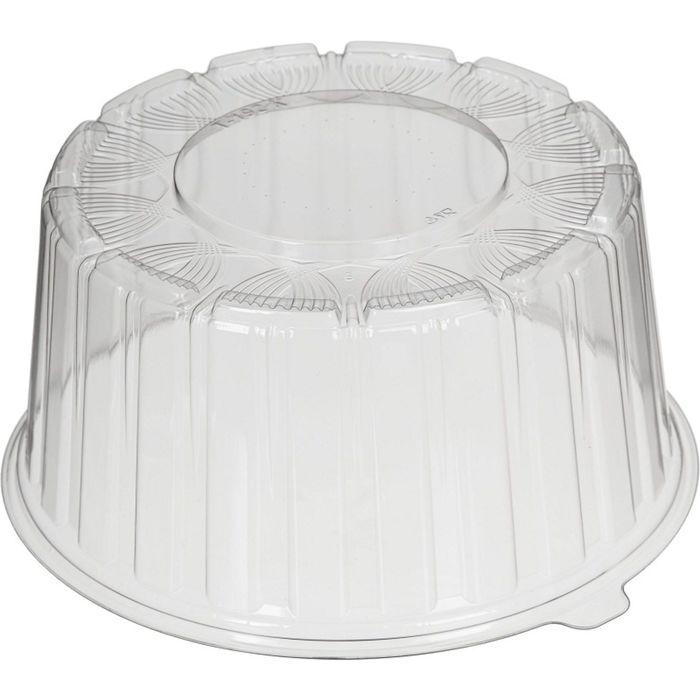 Крышка «Т-192К Эконом», круглая, цвет прозрачный, размер 20,4 х 9,6 см