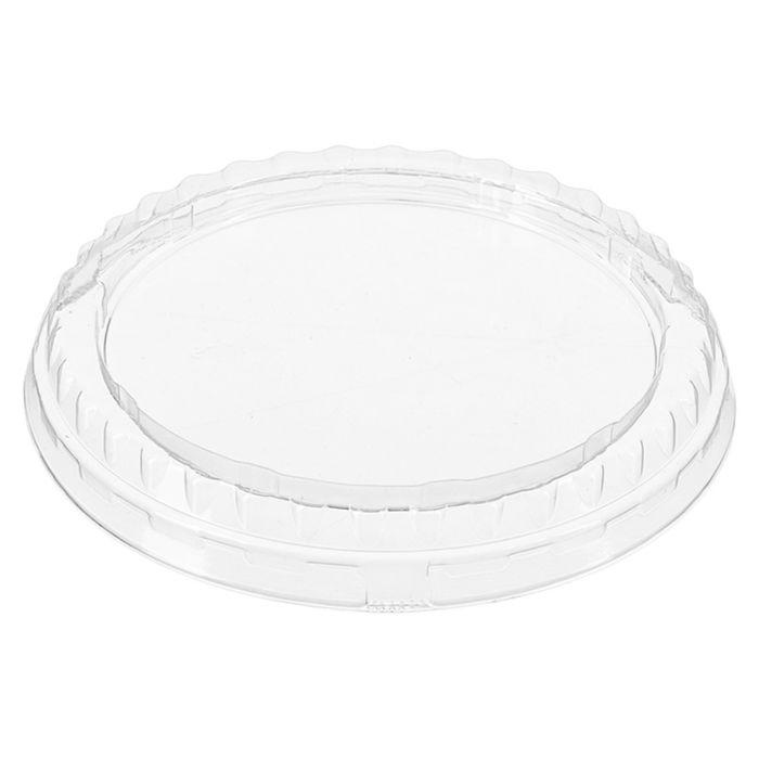 Крышка К-95П, круглая, цвет прозрачный, размер 9,8 х 9,8 х 1,3 см