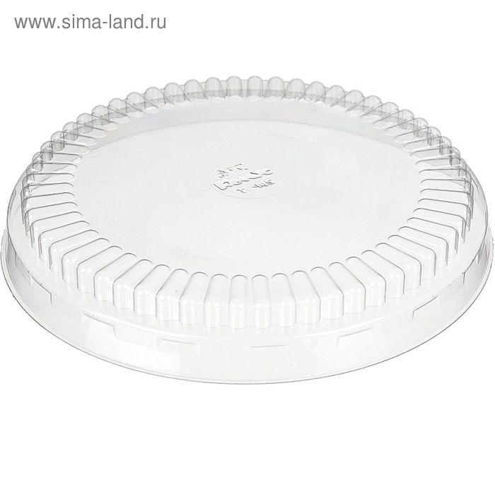 Крышка к контейнеру Т-185К, круглая, прозрачная, 18,5х18,5х0,1 см / 500 мл