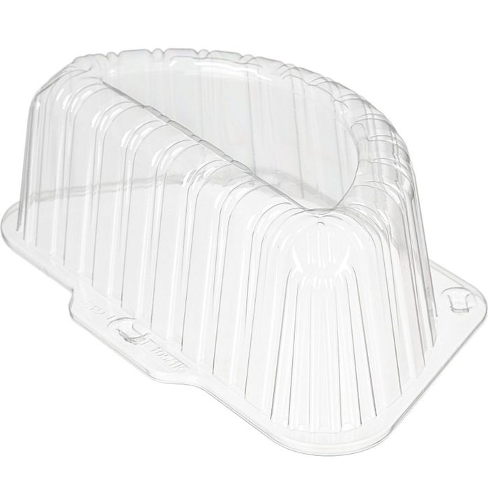 Крышка к контейнеру Т-105/1К, полукруглая, цвет прозрачный, размер 27 х 16,15 х 9,2 см, объём 450 мл