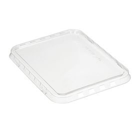 Крышка к контейнеру КМ-950К, прямоугольная, прозрачная, 18,6х14,1х0,1 см