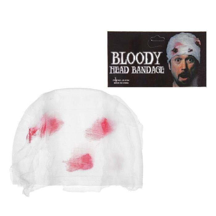 Прикол повязка на голову с кровью