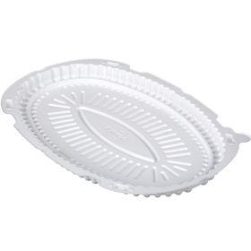 Контейнер для торта Т-250Д, овальный, цвет белый, размер 30 х 20,2 х 2,1 см