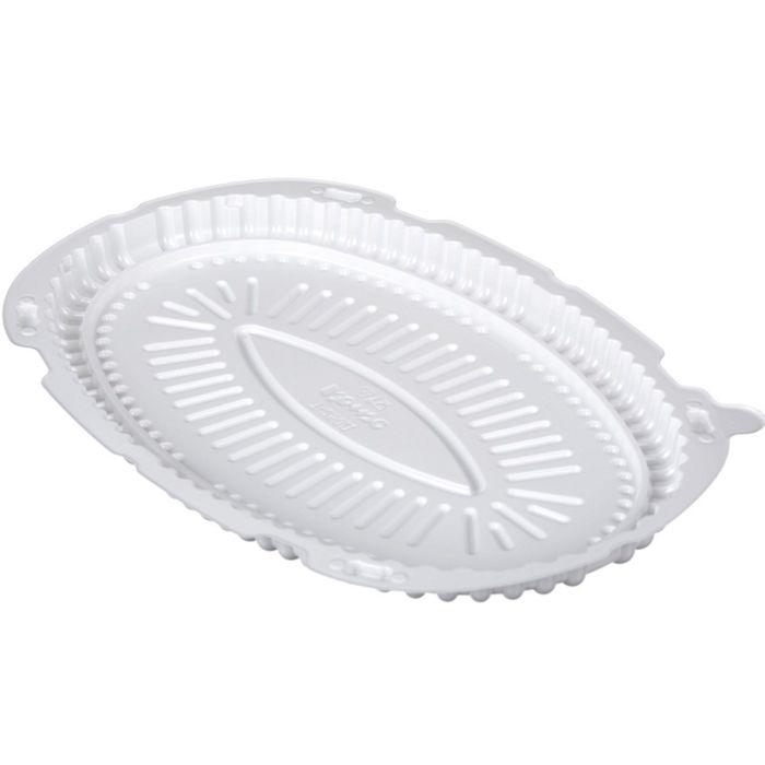 Контейнер для торта Т-250Д, овальный, белый, 30х20,2х2,1 см