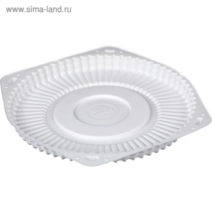 Контейнер для торта Т-245/1Д, круглый, белый, 24х24х2 см
