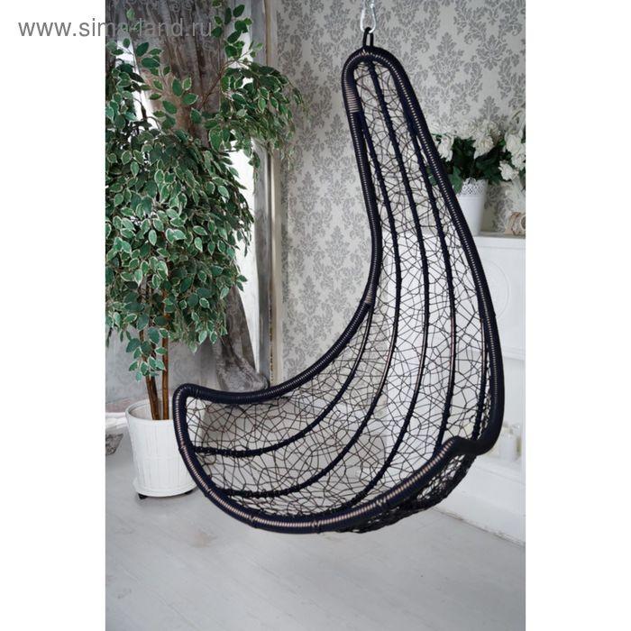 Интерьерное подвесное кресло Сантарини, чёрное