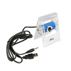Веб-камера RITMIX RVC-005M, 0.3 МП, 640x480, регулируемая подсветка, прищепка, синяя