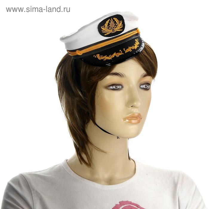 """Мини-шляпа """"Моряк"""", на резинке"""
