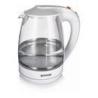 Чайник электрический Gorenje K17GWII, 2200 Вт, 1.7 л, белый/стелко