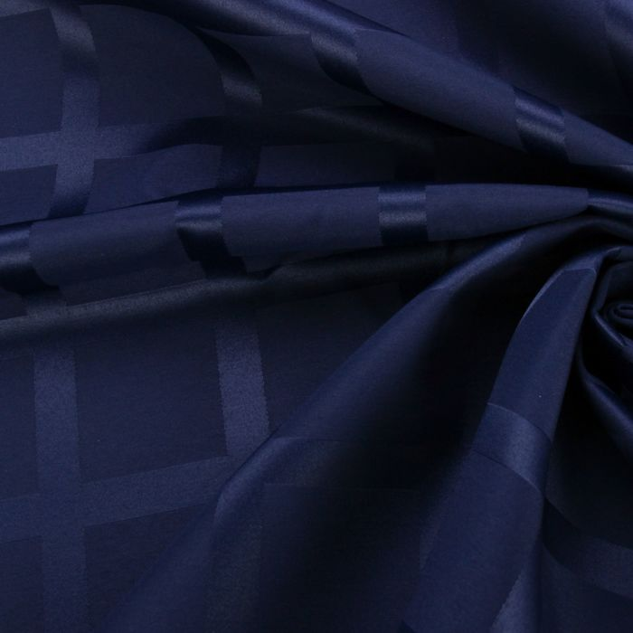 Ткань для столового белья с ГМО Геометрия ш.155, дл.10м, цв.синий, пл. 192 г/м2 - фото 481135516