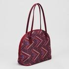 Сумка женская, отдел на молнии, наружный карман, цвет бордовый/орнамент