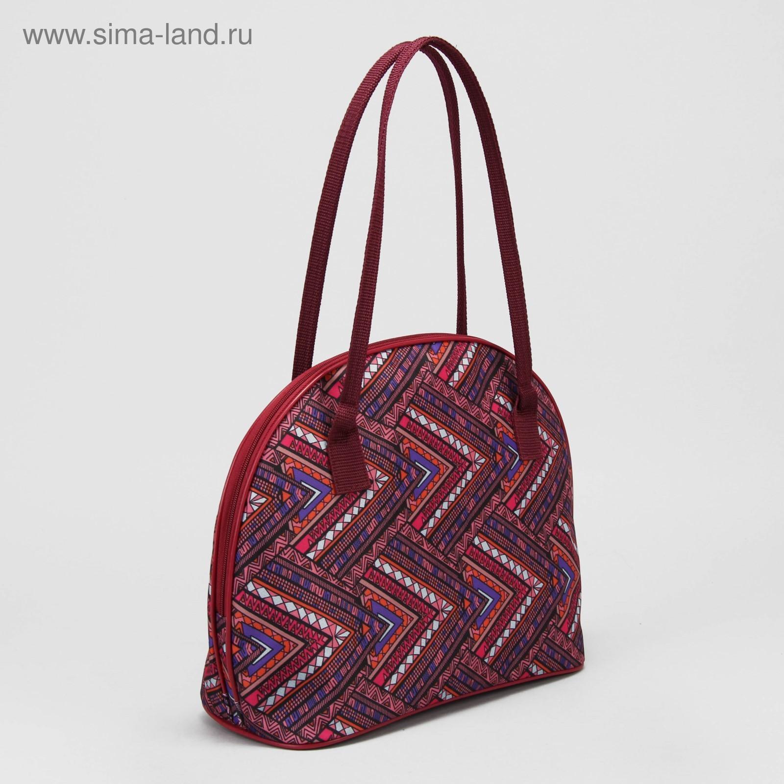 0cd492d87dc9 Сумка женская, отдел на молнии, наружный карман, цвет бордовый/орнамент