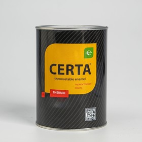 Эмаль термостойкая «Церта», ж/б, до 750 °С, 0,8 кг, чёрная