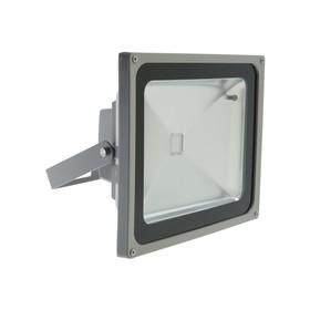 Прожектор светодиодный Uniel, 50 Вт, IP65, пульт ДУ, мультиколор, корпус серый