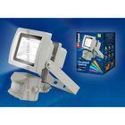 Прожектор светодиодный Uniel, 10Вт, 4000К, IP65, корпус серый, с датчиком движения