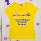 Футболка для девочки, рост 104 см, цвет жёлтый
