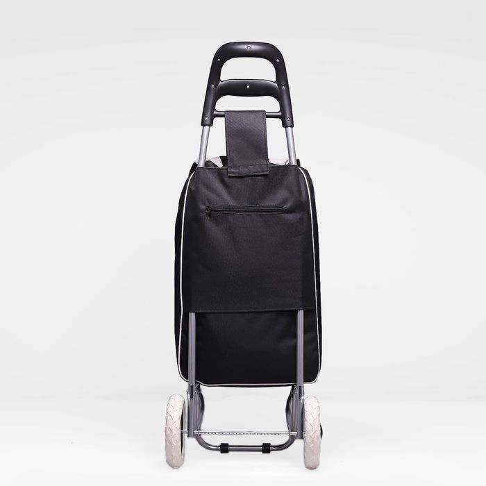 Сумка-тележка, хозяйственная, на колёсах, 33 л, цвет чёрный/серый