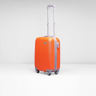 """Чемодан малый, 20"""", 4 колеса, кодовый замок, цвет оранжевый"""