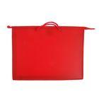 Папка А3 с ручками пластиковая 420х343х50 мм, красная