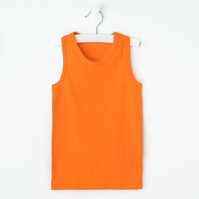 """Майка для девочки """"Оксана"""", рост 98-104 см, цвет оранжевый 1053"""