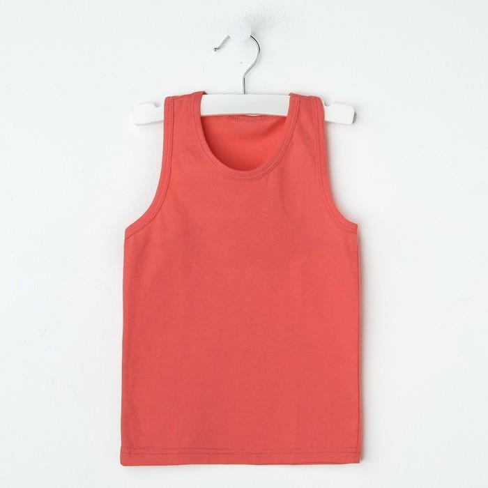 """Майка для девочки """"Оксана"""", рост 158-164 см, цвет коралловый 1053"""