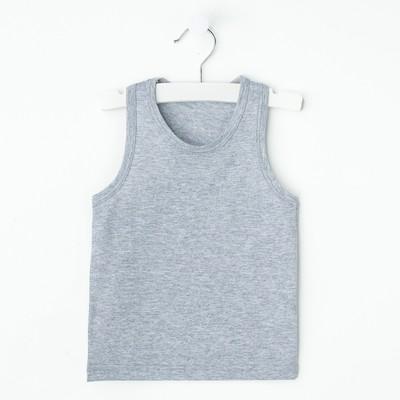 "Майка для девочки ""Оксана"", рост 98-104 см, цвет серый меланж 1053"