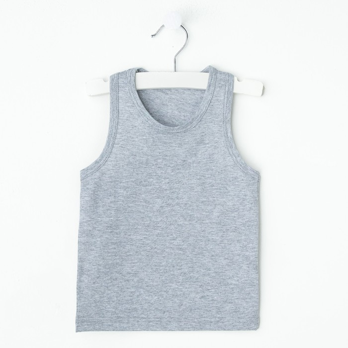 "Майка для девочки ""Оксана"", рост 110-116 см, цвет серый меланж 1053"